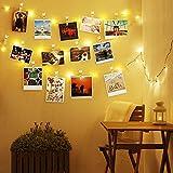 Lichterketten Fotowand - 10M Foto Lichterkette mit Klammern für Fotos - Kommt mit 60 Lichtklammern, Foto Lichterkette Dekoration - Lichterkette für Zimmer Eignen Sich