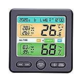 Generic Tragbare Digitale Thermometer Hygrometer Hause Genaue Alarm Einfach zu Lesen Komfort Zone Schnelle Batterie Powered - Schwarz