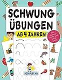 Schwungübungen ab 4 Jahren: Erste Schwünge, um Schreiben, Lesen & Zeichnen zu lernen. Großer A4 Vorschulblock ab Kindergarten & Vorschule für Konzentration, Feinmotorik & Augen-Hand-Koordination