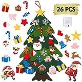 AISHN DIY Weihnachtsbaum,100cm Hoch Filz Weihnachtsbaum Set Edition 27 Pcs Ornamente Wand Dekor Für Kinder Weihnachten Geschenk,Weihnachtsspiel, Home Tür Wand Dekoration