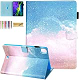 Dteck iPad Air 11 Zoll Hülle 2020, iPad Pro 11 Hülle, Slim PU Leder Flip Smart Cover Auto Sleep Wake Multi Angle Stand Schutzhülle für Apple iPad Air 4th Gen, iPad Pro 11 2020/2018, Blau Pink Galaxy