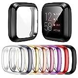 Mocodi 8 Stücke Schutzhülle Kompatibel mit Fitbit Sense/Versa 3 Hülle, Vollständige Abdeckung Weiche TPU Cover Case Schutzfolie für Fitbit Sense/Versa 3 Smartw