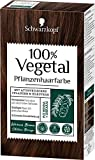 SCHWARZKOPF 100% VEGETAL Coloration, Haarfarbe Warmes Braun Stufe 3, 3er Pack (3 x 80 ml)
