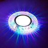 YSDSPTG Downlight Bunte LED Down-Panel Licht RGB COB Einbau Halogen-Lampe Spot-Lichter Urlaub Lampe for Bar KTV Aisle Dekoration Licht (Emitting Color : Yellow)