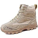 YUHAI Taktische Stiefel Herren wasserdichte Wildleder, rutschfeste verschleißfeste Militärschuhe Ankle Boots,Sand-40(UK 7.5)