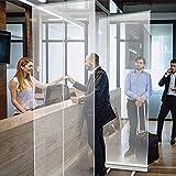 TOPNIU Tragbare Trennwände Vertikale Bodentyp Rollen die transparente Banner, Sneeze-Guard-Bildschirm, sozialer Distanzscheibe, Spuckenschutz, Bodeningnn, Bodenstufe Sneeze-Garde