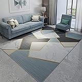 Teppiche Läufer Teppich, Hochflor Shaggy Teppiche, rutschfeste Modern Design, Bequemes Schlafzimmer Home Decorate Floor Kids Spielmatte,A_3x4