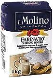 Molino Chiavazza - Italienisches Weizenmehl 00 - Brot   Pasta   Kuchen (1Kg)