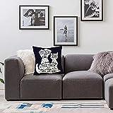 Bettwäsche dekorative Kissen,Hund, Freunde sind wie Sterne Zitat mit Silhouette von Haustieren auf einem Raum themenorientierten Für Bett- und Sofakissen, Innenbereich, dekorative Kissen