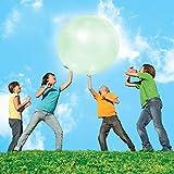 TIANTIAN Wassergefüllte Bälle für Kinder, 129 cm, Outdoor-Sportspielzeug, aufblasbarer Ballon, riesiger Seifenblasenball, Strandbälle, weicher Gummiball für Eltern-Kind-interaktives Spiel, grün