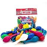 50 Luftballons 25cm bunt, für Hochzeit und Party,Silvester, Karneval, Bunt Mehrfarbig, Latexballons, Heliumballons
