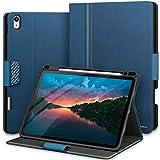 KingBlanc Hülle für iPad Air 4. Generation 10.9 Zoll 2020 mit Stifthalter, Auto Schlaf/Wach Funktion, Unterstützt Koppeln/Kabelloses Laden für Apple Pencil, Smart PU Leder Schutzhülle Cover Case, B