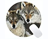 Yanteng Gaming Round Mouse Pad Benutzerdefinierte, Tierwolf Uhr Gaming Mousepad Mat