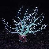 MZD Künstliches Aquarium, Silikon, leuchtend, Koralle, Meer, Eisen, Baum, Unterwasser-Ornament, Aquarium-Dekoration, Zubehör, Grün