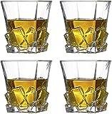 Aoriodace Kristall-Whiskey-Gläser 4er-Set – Whiskygläser Geschenk-Set, beste Trinkgeschenke für Männer, Väter, Ehemann, Vatertag, Geburtstag, Party, Urlaub, Weihnachten