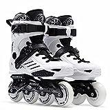 LLKK Kinder Inline Skates - Herren und Damen Skates 4 Rollen Einreihige Rollschuhe Schuhe Schwarz Inline Skates Schuhe für Kinder, Zwei Farben, Geburtstagsgeschenk