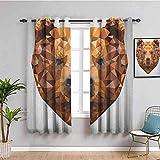 LWXBJX Blickdicht Vorhang für Schlafzimmer - Weiß Bär abstrakt Kunst - 3D Druckmuster Öse Thermisch isoliert - 200 x 160 cm - 90% Blickdicht Vorhang für Kinder Jungen Mädchen Spielzimmer