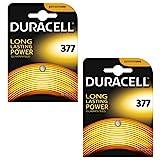 Duracell 377 Uhrenbatterien, Silberoxid, 1,5 V, SR626SW AG4 626 D377, 2 Stück
