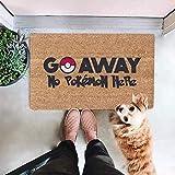 YanXi Fußmatten, 45,7 x 76,2 cm, Schmutzfang-Teppiche für Innen- und Außenbereich, wasserdicht, rutschfeste Gummi-Rückseite, strapazierfähige Gummi-Fußmatte, saugfähige Fußmatte die Haustür (Go Away)