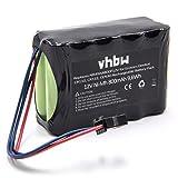 vhbw NI-MH Akku 800mAh (12.0V) für Ecovacs Deebot CEN30, CR100, CR110, CR112, TCR03A wie NR49AA800P12V