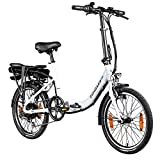 Zündapp Z110 20 Zoll E Bike Faltrad Damen Herren Elektrofahrrad klappbar Fahrrad Elektro Klapprad Ebike Pedelec E-Bike Erwachsene Klappfahrrad (weiß, 33 cm)