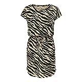 ONLY Damen ONLMAY Life S/S Dress NOOS Kleid, Humus/AOP:Black Zebra, M