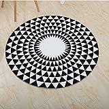 Oukeep Geometrische Einfache Kreisförmig Bedruckte Teppich Schlafzimmer Fußmatten Teppich Im Europäischen Stil Kinder Krabbeln Fußmatten Können Gewaschen Werden