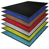 casa pura® Premium Fußmatte in attraktiver Optik | Schmutzfangmatte in vielen Größen | türkis | 200x200