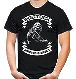 Rostock kämpfen & Siegen Männer und Herren T-Shirt | Fussball Ultras Geschenk | M2 (L, Schwarz)