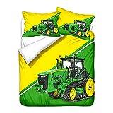 WPP-JY Traktor Mähdrescher Bettwäsche-Set 135x200 cm + Kissen 80x80 cm Bauernhof Kinder-Bettwäsche Jungen,Kinderbettwäsche,Bettbezüge (J-02,220x240cm+80x80cmx2)