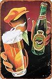 Cimily Tuborg Beer Poster Vintage Blechschild Metallschild Poster RetroIron Gemälde Plakette Kunst Wanddekoration 12 × 8 Zoll