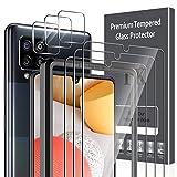 LK 6 Stück Panzerglas Kompatibel mit Samsung GalaxyA425G, 3 Schutzfolie und 3 Kamera Schutzfolie, 9H Härte Schutzfolie, HD Klar Displayschutz, Kratzen Blasenfrei Einfacher Montag