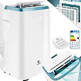 KESSER® Klimaanlage Mobil Klimagerät 4in1 kühlen, Luftentfeuchter, lüften, Ventilator - 9000 BTU/h (2.600 Watt) 2,7KW - Klima, Fernbedienung und Timer, Nachtmodul, Weiß