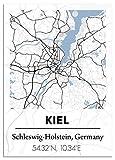 """Poster Stadt: Individuelles Motiv """"City map"""" - Abbildung von oben. Stil schwarz weiß. Wanddekoration Geschenk-Idee Geburtstag Umzug - ohne Rahmen, DIN A3 oder A2."""