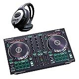Roland DJ-202 2-Kanal 4-Deck USB-DJ-Controller + keepdrum Kopfhö