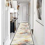 Goodming Flur läufer 40x100cm, Teppich brücke Schlafzimmer, Teppiche Strapazierfähig, Natürlicher Look, Anpassbare Größe, für Wohnzimmer, Schlafzimmer, E