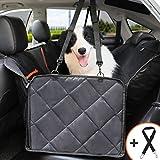 Bitsymore Schondecken für Hunde, rutschfeste Autositzbezüge für Hunde mit Netz und umwandelbaren Seitenklappen Einfach zu installierende und zu reinigende Passungen für Autos