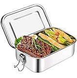 Brotdose Edelstahl Auslaufsicher 1000 ml mit Fächern Lunchbox,Lunchbox - Brotbox Vesperdose Brotbüchse Brotzeitbox,Kind Schule Kindergarten,Brotdose Kinder,Lunchbox Edelstahl