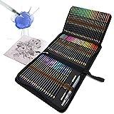 Professionelle Aquarellstifte, 72 Aquarell Buntstifte Set für Kinder und Erwachsene, Wasserlösliche Farbstifte zum Mischen, Schichten und Aquarellieren