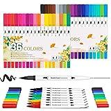 Hethrone Dual Tip Brush Pen Set 36 Malstifte Filzstift Art Marker Fineliner Pens für Malbücher, fürs Zeichnen, Malen, für Kalligraphie