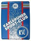 KSC Karlsruher SC - Blechpostkarte mit Umschlag 14,5 x 19,5 cm - Neu