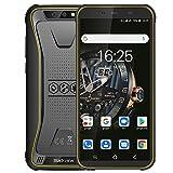 Blackview BV5500 Plus (2020) Günstige Outdoor Smartphone ohne Vertrag Android 10, 5,5 Zoll Display 3GB RAM+32GB Speicher, 4400mAh Akku, IP68 Wasserdicht, NFC, Face ID, 4G Dual SIM Handy (Gelb)