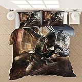 KIrSv Assassin 3D Printed Pattern Bettbezug Kissenbezug, Single Double King-Size-Bett, Favorit für Jungen und Jugendliche, weiche und Bequeme Bettwäsche-Kit-210x210cm (3 Stück) _3