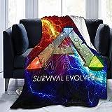 Ark Survival Evolved Decke, Flanell, 3D-gedruckt, weich, warm, für Zuhause, Bett, Sofa, Decke 152,4 x 127 cm