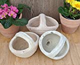 2. Wahl !! Aktion !! 3er Set Blumentöpfe Korb ca. 18 cm gewollt rustikal - echt Terrakotta, Blumentopf Garten Terracotta Dek