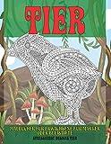 Malbücher für Erwachsene für Marker oder Bleistifte - Stressabbau Designs Tier - Tier