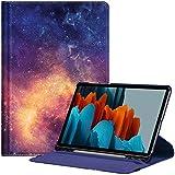 Fintie Hülle für Samsung Galaxy Tab S7 11'' SM-T870 / SM-T875, 360 Grad verstellbare Schutzhülle mit S Pen Halter, Auto Schlaf/Wach Funktion für Samsung Tab S7 11 Zoll 2020 Tablet, Die Galaxie