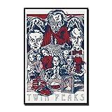 wzgsffs Twin Peaks 2 Tv-Serie Wandkunst Poster Und Drucke Druck Auf Leinwand Für Wohnzimmer Home Schlafzimmer Dekorative Cafe Bar-24X32 Inchx1 R