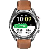 YQCH Smartwatch Männer Monitor Smart Watch Blutooth Calll Smartwatch IP67 wasserdichte Sportmänner Frauen Smart Watch (Color : B)