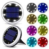 8 LED Solar LED Bodenleuchten Gartenleuchten Bunte Weihnachtslichter Außenleuchten im Freien Treppen Terrassenleuchten 4pcs-8ledColor Lig